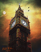 London England  Digital Art Originals - Big Ben by Michael Rucker