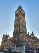 Limestone Carvings Posters - Big Ben Monday Morning Poster by Deborah Smolinske