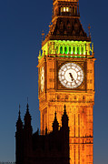 Palace Of Westminster Prints - Big Ben Tower Print by Brian Jannsen