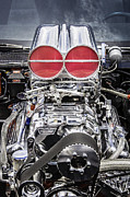 Big Block Posters - BIG Big Block V8 Motor Poster by Rich Franco