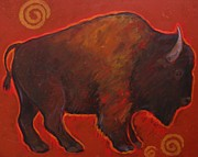 Bison Art - Big Bison by Carol Suzanne Niebuhr