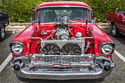 Big Block Framed Prints - Big Block 57 Chevy Framed Print by Rich Franco