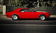 Beach Hop Framed Prints - Big Block Camaro Framed Print by motography aka Phil Clark