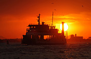 Portal Photo Originals - Big Boat At Sunset  by Ioan Panaite