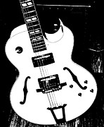 Live Music Prints - Big Body Guitar  Print by Chris Berry