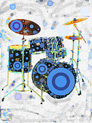 Drum Kit Mixed Media - Big Boom Bullseye by Russell Pierce