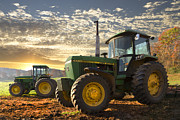 Antique Tractors Prints - Big Boys Toys Print by Debra and Dave Vanderlaan