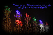 Christmas Greeting Photo Framed Prints - Big Bright Christmas Greeting  Framed Print by Kathy  White