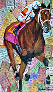 Kentucky Derby Mixed Media Prints - Big Brown Print by Michael Lee