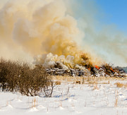 Snow Drifts Photos - Big Brush Fire by Tracy Salava