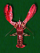 Boiled Crawfish Art - Big Claw Lobster - Painterly - v2 by Wingsdomain Art and Photography