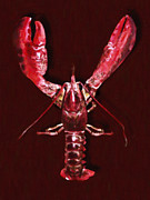 Boiled Crawfish Art - Big Claw Lobster - Painterly by Wingsdomain Art and Photography