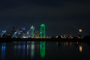 Dallas Skyline Metal Prints - Big D Metal Print by Charles Dobbs