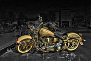 Biker Posters - Big Darrells Heritage  Poster by Shaw Photography - PDA Private Collection