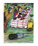 Texas Drawings - Big Day - Juneteenth  by James I Weisner Jr