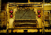 Out Of Service Posters - Big Dump Truck Grille Poster by Amy Cicconi