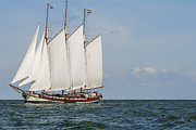 Patricia Hofmeester - Big Dutch traditional sailing ship on ocean