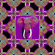 Big Elephant Abstract Window 20130201m68 Print by Wingsdomain Art and Photography