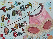 Beads Mixed Media Prints - Big Girl Panties Print by Eloise Schneider