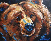 Christine Karron Metal Prints - Big Grizzly Metal Print by Christine Karron