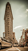 Flat Iron Framed Prints - Big In The Big Apple Framed Print by Hannes Cmarits