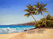 Big Island Getaway Hawaiian Seascape Print by Karen Whitworth
