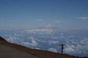 Big Island - Island Of Hawaii - View From The Summit Haleakala Maui Hawaii Print by Sharon Mau