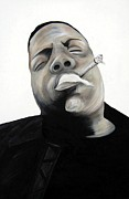 Rapper Paintings - B.i.g by Jennifer  Gollings
