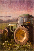Antique Tractors Prints - Big John Print by Debra and Dave Vanderlaan