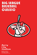 Big League Baseball Classic Poster  Print by Aloysius Patrimonio