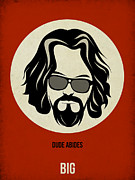 Famous Actors Posters Framed Prints - Big Lebowski Poster Framed Print by Irina  March