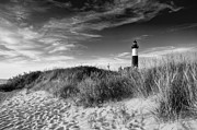 Ludington State Park Posters - Big Lighthouse in Black and White Poster by Twenty Two North Photography