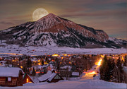 Crested Butte Prints - Big Moon Rising Print by Dusty Demerson