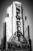 Theater Prints - Big Newport Edwards Theater Marquee in Newport Beach Print by Paul Velgos