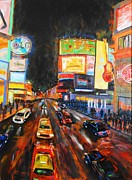 Dundas Paintings - Big Night Yonge Dundas by Brent Arlitt