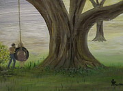 Swing Paintings - Big Oak Tree by Joe McClellan