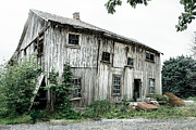 Abandoned Buildings Prints - Big Old Barn - Rustic - Agricultural Buildings Print by Gary Heller
