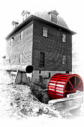 Grist Mill Prints - Big Otter Mill Wheel Print by Steve Hurt