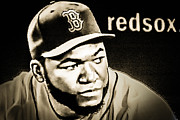 Boston Red Sox Framed Prints - Big Papi Framed Print by George DeLisle