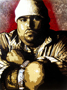 Stencil Art Painting Framed Prints - Big Pun Framed Print by Bobby Zeik