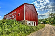 Wooden Bridges Photos - Big Red Barn by Adam Jewell