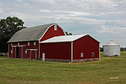 Rural Indiana Prints - Big Red Barn - Carroll County Indiana Print by Suzanne Gaff