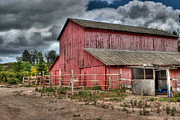 William Havle Art - Big Red Barn by William Havle
