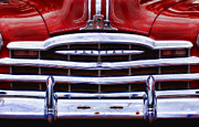 Chrome Prints - Big Red Pontiac Print by Carol Leigh