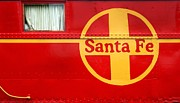 Caboose Prints - Big Red Santa Fe Caboose Print by Paul W Faust -  Impressions of Light