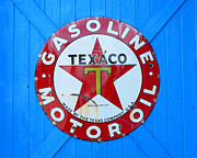 Motor Oil Framed Prints - Big Red Star Framed Print by David Lee Thompson