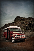 Rural School Bus Posters - Big Red Poster by Tamson