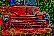 Car Photographs Art - Big Red  by Toni Hopper