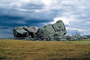 Crop Painting Prints - Big Rock 2 Print by Terry Reynoldson