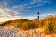 Ludington State Park Posters - Big Sable Light Around Sunset Poster by Twenty Two North Photography